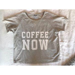 "Sabo Skirt ""Coffee Now"" Crop"